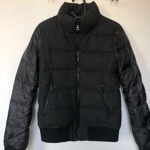 Uniqlo Wool Bomber with detachable hood